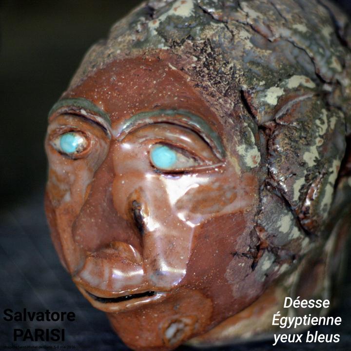 Salvatore Parisi - Déesse Égyptienne yeux bleus